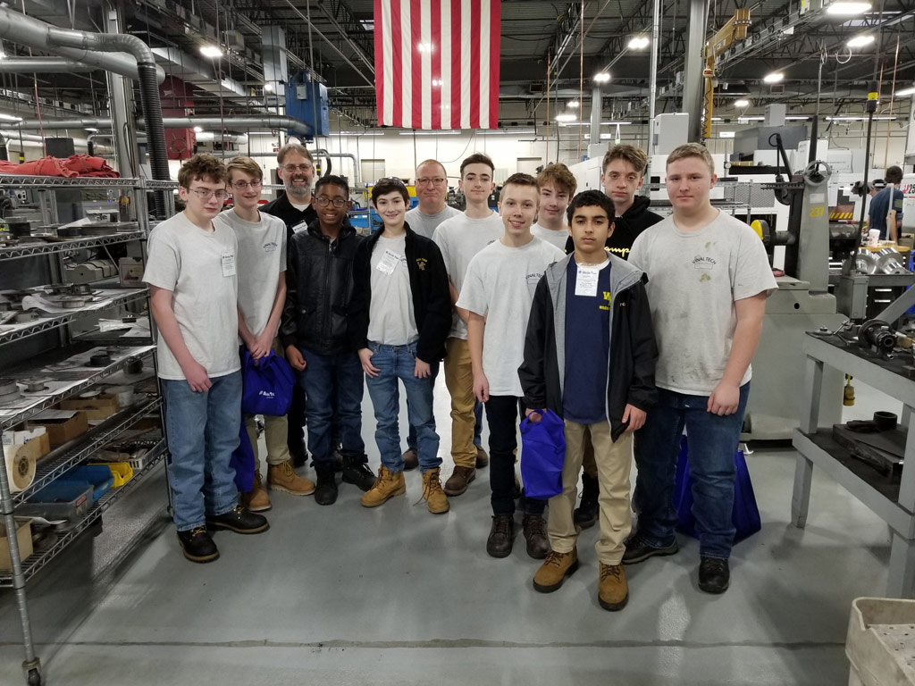 Vinal Tech Students Get a Behind-the-Scenes Tour of Sirois Tool